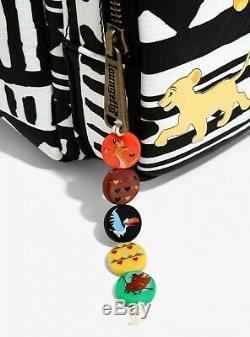 Loungefly Simba & Nala Mini Backpack Striped Zipper Wallet Disney Lion King SET