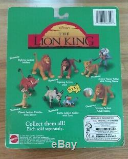 MATTEL Disney's The Lion King 1994 ACTION Figures Mufasa Scar Pumbaa Timon Zazu