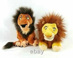 NEW Disney Store Adult SIMBA & SCAR Plush Set The Lion King Disney Parks 2011