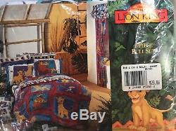 NEW Vintage Lion King Wamsutta Full Size 4 Piece Sheet Set Disney NOS NIP