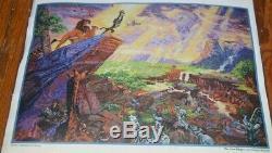 NIP DISNEY DREAMS THOMAS KINKADE LION KING CROSS STITCH KIT 16 x 12