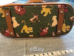 NWT DOONEY & BOURKE Disney The Lion King Zip Satchel Simba