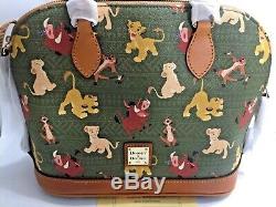 NWT Dooney & Bourke THE LION KING Satchel PERFECT PATTERN Simba Timon Pumba Nala