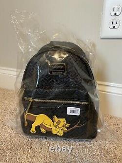 NWT Loungefly Disney The Lion King Sleeping Simba Black Mini Backpack LE 600