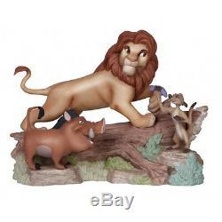 % New PRECIOUS MOMENTS DISNEY Figurine LION KING Simba Timon Pumbaa Tree Pig