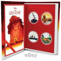 Niue 2019 4x1 OZ Silver Proof Coin Set- Disney The Lion King