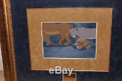 Org. Disney Production Cel Set-up Production Background The Lion King Simba Nala