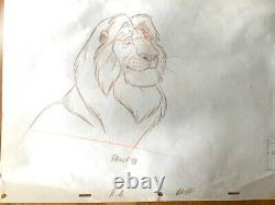 Original Disney Production Drawing from The Lion King Mufasa 37