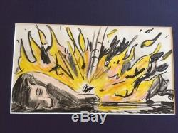 Original Disney Production Drawings from Lion King Nala with flames LK 813