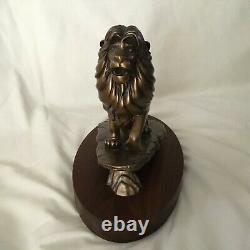 RARE Disney Lion King Simba Figure PRIDE KING Figurine Bronze Metal Statue