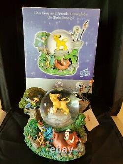 RARE Disney Store Lion King and Friends Snowglobe In Box Simba Rafiki Exce