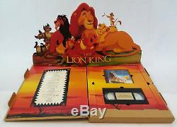 RARE Lion King Limited Academy Gift, Disney Media Set, VHS + CD in Display