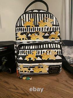 RARE Loungefly Disney The Lion King Simba & Nala Mini Backpack