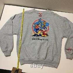 RARE Vintage Aladdin Genie Disney Crew Neck Sweatshirt 90s Movie Lion King Large