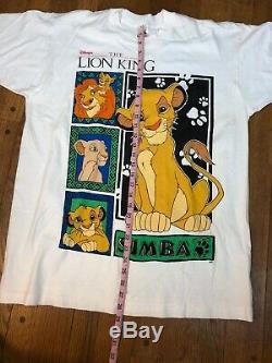 RARE vintage The Lion King movie promo t shirt mens xl Simba Disney 90s
