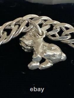 Rare DISNEY The Lion King 925 Sterling Silver 5 Charm Bracelet