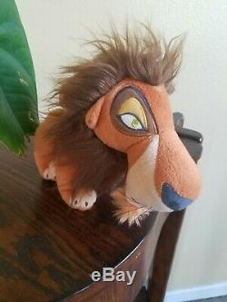 Rare Disney The Lion King Japan SEGA Scar Collector's Plush Toy