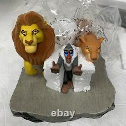 Rare Disney Watch Works The Lion King 10th Anniversary Sculpture & Watch Rafiki