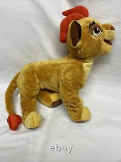 Rare Lot of 2 Janja Hyena & Kion 14 Plush Stuffed Lion Guard Disney Store