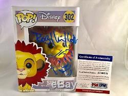 Rob Minkoff Signed And Sketched Simba Funko Pop Disney Lion King PSA DNA CERT
