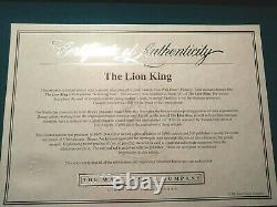 Scheming Scar & Simba Limited Ed. Disney Sericel, Lion King, New Mint Coa Framed