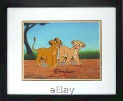 Simba Nala Playmates Lion King Disney Sericel cel Signed Chris Sanders NEW Frame