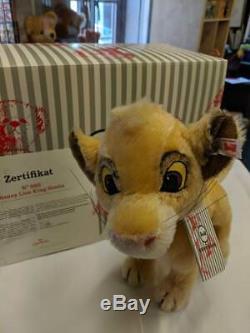 Steiff Disney Lion King Simba 355363 Brand New Limited Edition No. 880/1994