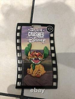 Stitch Crashes Disney 3/12 Plush And Pin Lion King