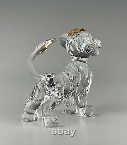 Swarovski Crystal Disney Simba Lion King Figurine Mint In Box