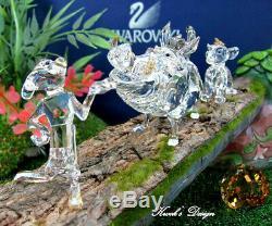 Swarovski Crystal Figurine Disney The Lion King withLog Base Display on set