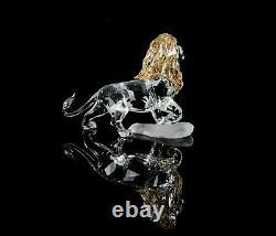 Swarovski Crystal -mufasa- Disney Lion King Figure Ornament 1048265, Boxed