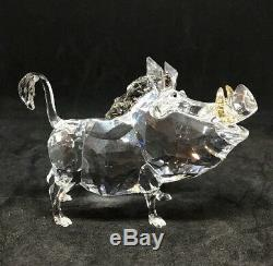 Swarovski Crystals Disney Elements Lion King Pumbaa The Warthog, Boxed