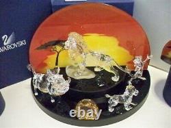 Swarovski Disney 2010 Lion King Series Complete 6 Piece Set + Lithograph Bnib