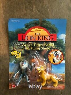 THE LION KING Fighting Action Figures Lot of 5 Disney Mattel NIP