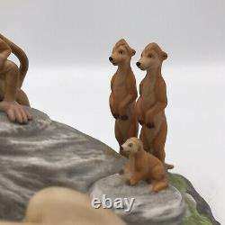 The Disney Store Lion King Sarabi & Baby Simba Porcelain Ceramic Figurine RARE
