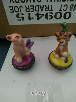 The Lion King 2 Simba's Pride Kiara Kuvo Rare French Hand Painted Trinket Boxes