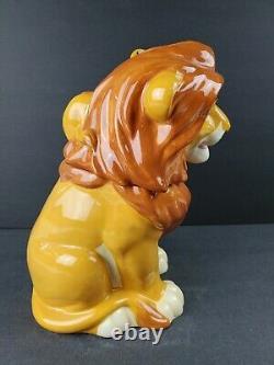 The Lion King Cookie Jar Simba and Mufasa Westland Disney Film Ceramic Container