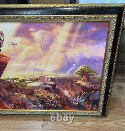 The Lion King Thomas Kinkade (24x36 Canvas) Disney Classic 29x41 Frame ($1245)