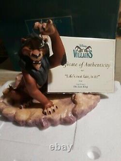 The Lion King WDCC Life's Not Fair Is It Scar Figurine COA Box Disney Villains