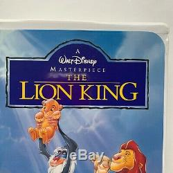 The Lion King Walt Disney Classic Masterpiece Collection VHS Clamshell 2977-1