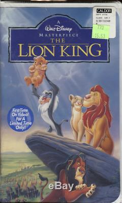 The Lion King Walt Disney Masterpiece Collection VHS 2977 SEALED RARE 101819DVHS