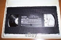 The Lion King Walt Disney Masterpiece Collection VHS Movie Tape