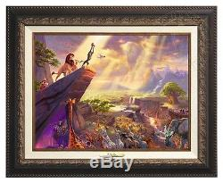 Thomas Kinkade Lion King Canvas Classic (Aged Bronze Frame) Disney Fine Art