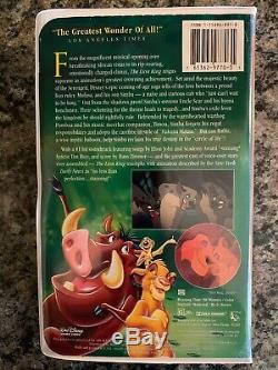 VHS Walt Disney Masterpiece Collection THE LION KING 1995 Rare Very Collectable