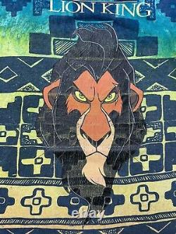 VINTAGE Disney The Lion King Scar All Over Print T-shirt Men Tie Dye Movie 90s