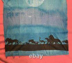 VINTAGE GRAIL 90s THE LION KING-THE DISNEY STORE ALL OVER PRINT T SHIRT-SZ XL