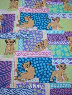 VTG 90s Disney Lion King Simba Duvet Cover Fabric Sheets Bedding Pastel #3