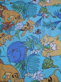 VTG 90s Disney Lion King Simba Duvet Cover Fabric Sheets Bedding Tropical RARE