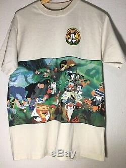 VTG Tarzan Lion King Walt Disney Pictures Promo Shirt Simba 90s All Over Print