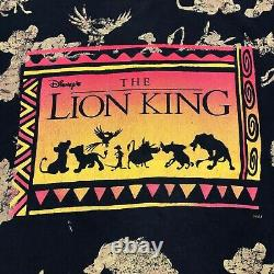Vintage 1990s Disney The Lion King All Over Print Movie Tee T Shirt Size XL 90s